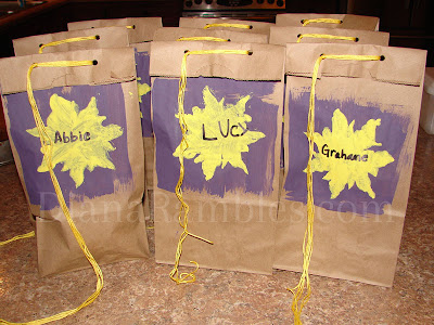tangled rapunzel gift bags
