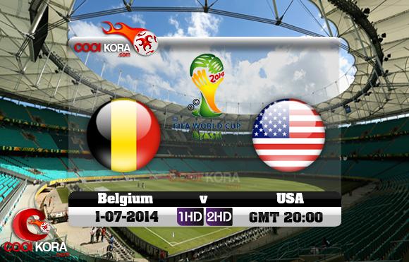 مشاهدة مباراة بلجيكا والولايات المتحدة الأمريكية بث مباشر 1-7-2014 علي بي أن سبورت كأس العالم Belgium vs USA