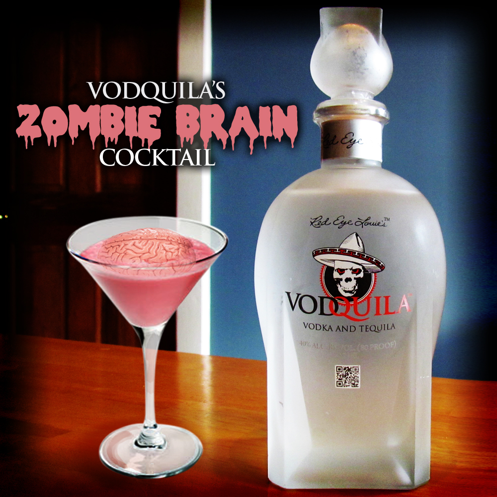 zombie brain cocktail vodquila mixology. Black Bedroom Furniture Sets. Home Design Ideas