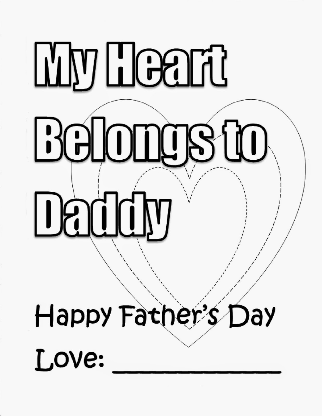 Pin My Dad Fathers Day Coloring Pages Of Hearts Sheets On