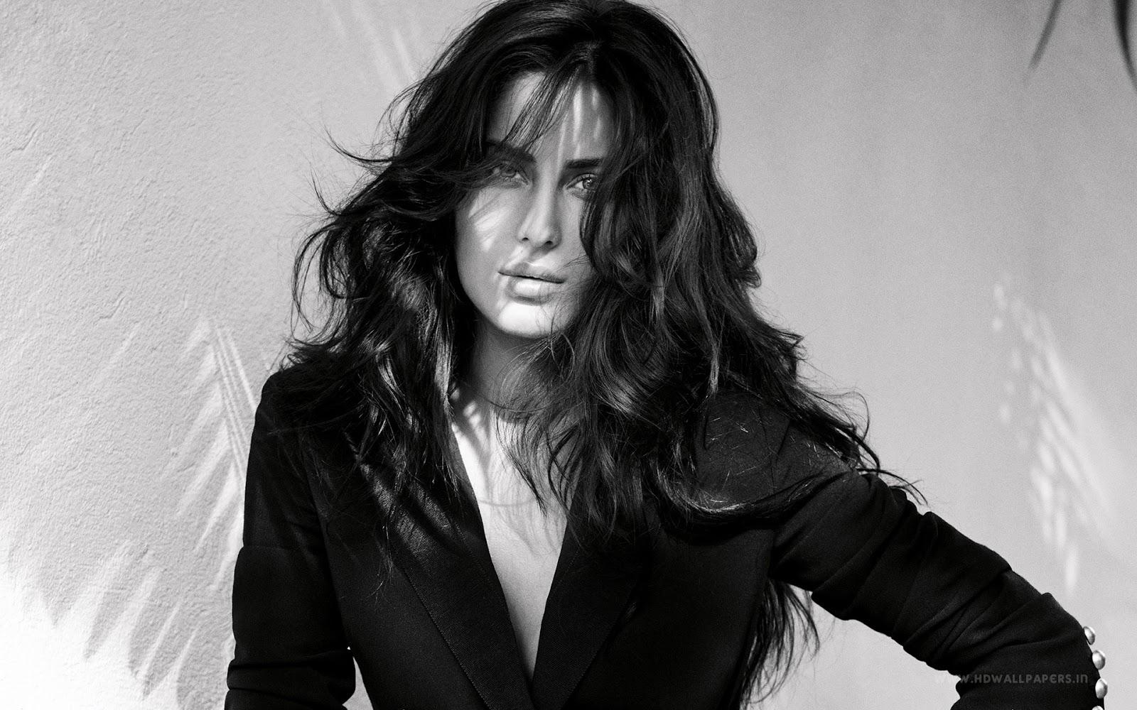 Katrina Kaif Black Suit Wallpaper
