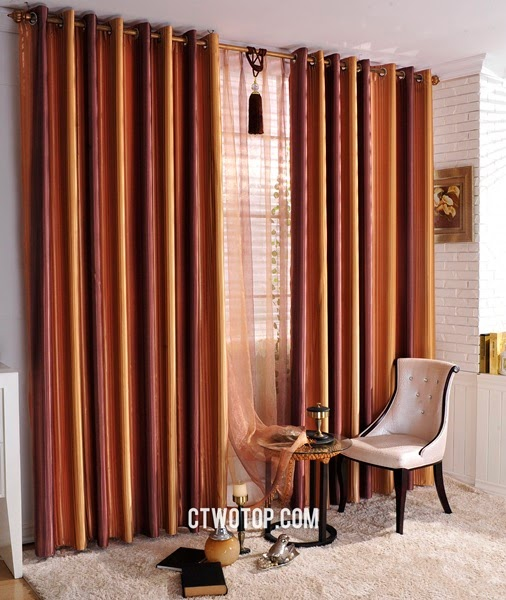 Striped living room curtains