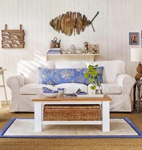Beautiful driftwood fish on wall