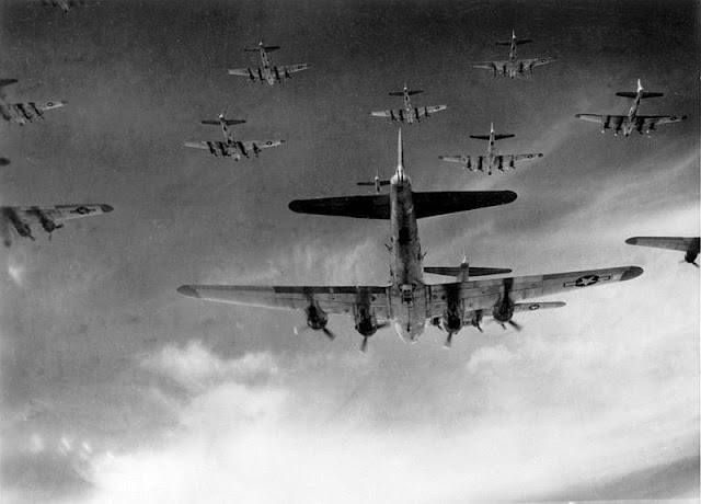 American B-17  bomb German cities