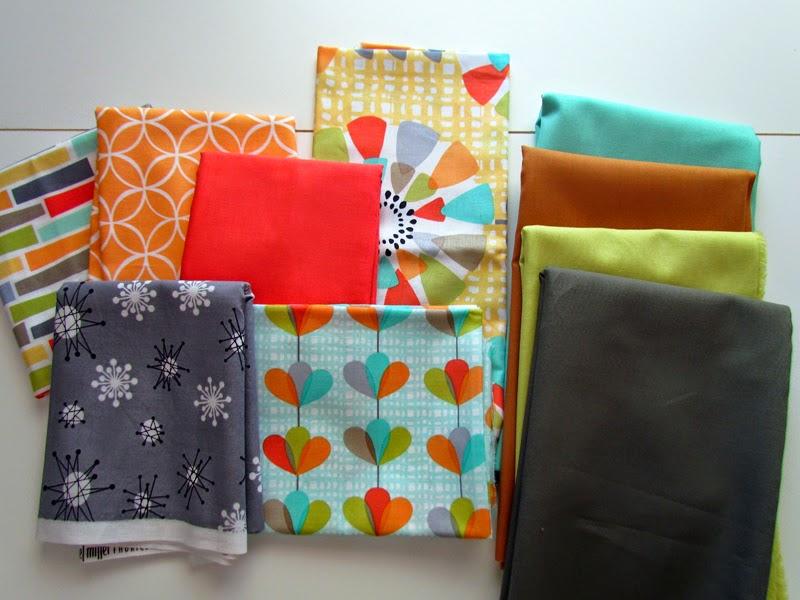 Michael Miller fabric - petal pinwheels - modern guild member fabric challenge