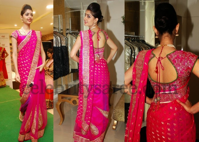 Aasna Pink Georgette Saree
