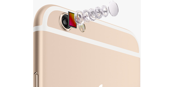 8MP 5-lens camera on the Apple iPhone 6 and Apple iPhone 6 Plus