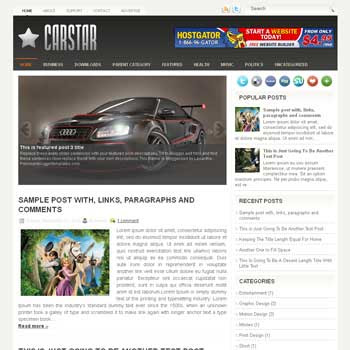 CarStar blog template. patter background blogger template. magazine style template blogspot. free blogspot template
