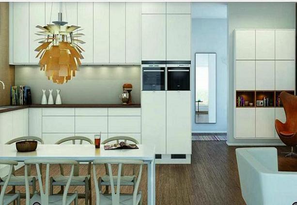 Cocinas de aspecto moderno con madera blanca cocina y for Muebles de cocina de madera modernos