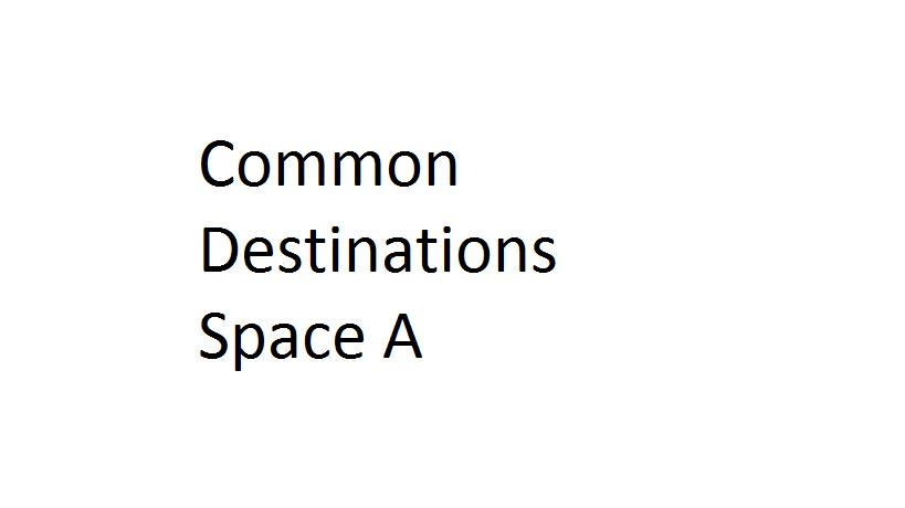 common destinations space a