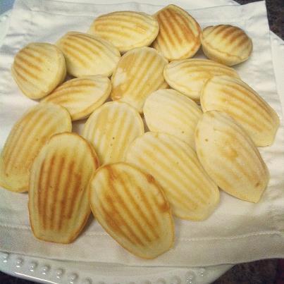 Madeleine cookies, leftover pancake batter