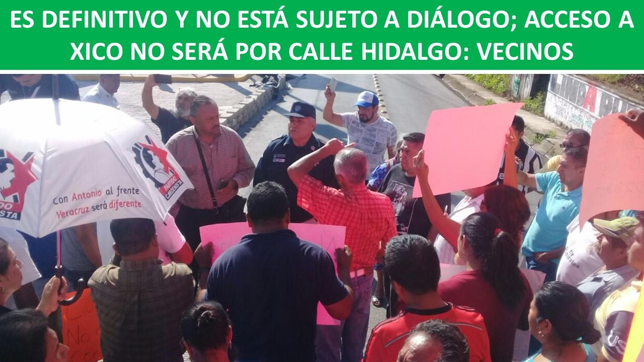 ACCESO A XICO NO SERÁ POR CALLE HIDALGO: VECINOS