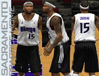 NBA 2K13 Sacramento Kings Practice Home Jersey