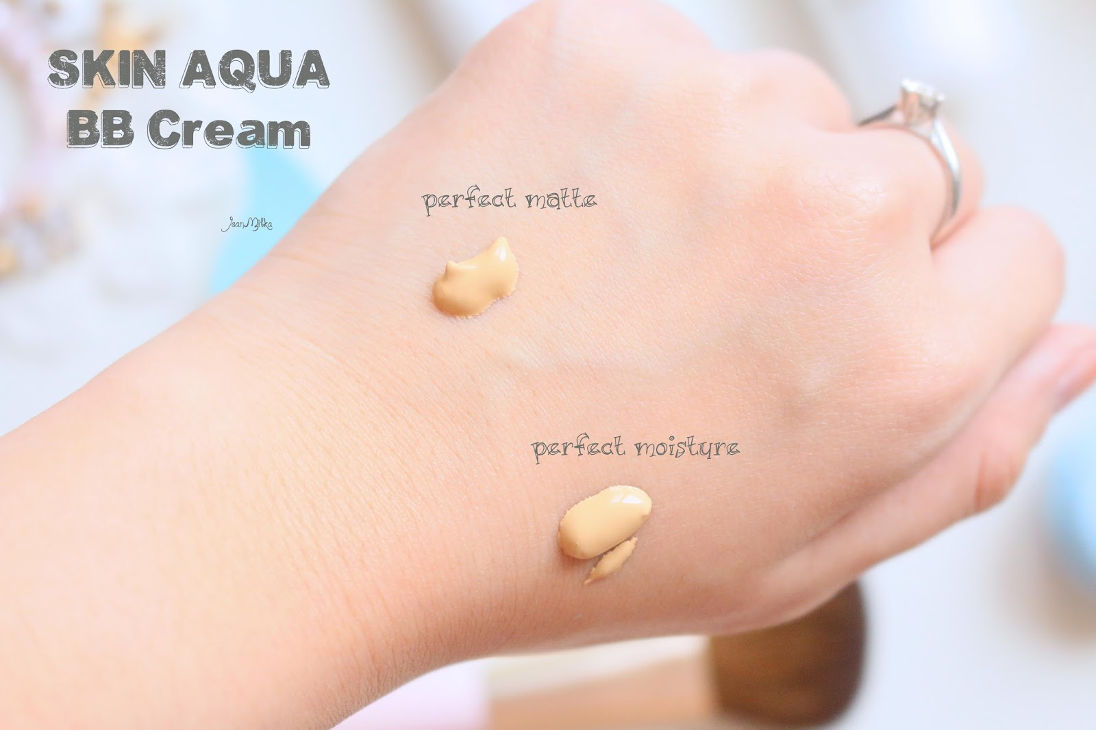 skin aqua, bb cream, makeup, review, japan, everyday, perfect matte, perfect moisture, swatch