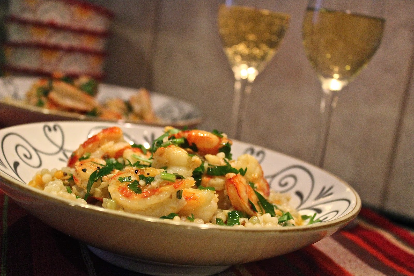 ... Queen: A cure for The Turkey Blues: Red Shrimp Scampi with Couscous