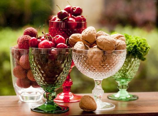 Gostei, postei! Decorando mesas com frutas -> Decoração Mesa De Frutas Natal Simples