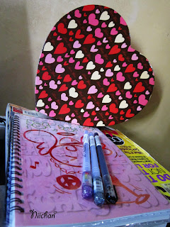 Gel Pen, Spiral Notebook, Heart-shaped Box,Saizen, National Bookstore