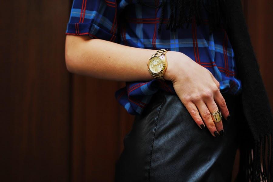 michael kors leather skirt fashion style