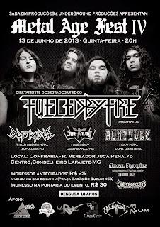 Metal Age Fest: adiado para o dia 3 de julho (quarta-feira)