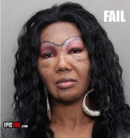 Worst eyebrow fails ever damn cool pictures for Tattooed eyebrows gone wrong