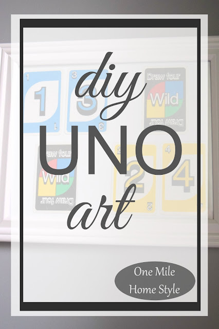 DIY UNO Card Game Art - One Mile Home Style