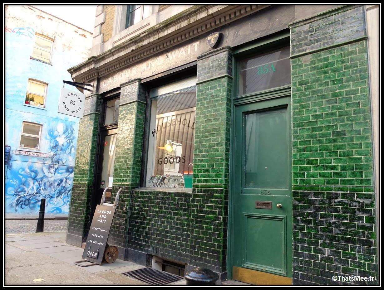 East London Labour And Wait intérieurs shopping déco RedChurch street Brick Lane brunch bonnes adresses Londres