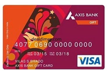 Axis Bank Gift Card Rs. 10,000 for Rs. 9,500