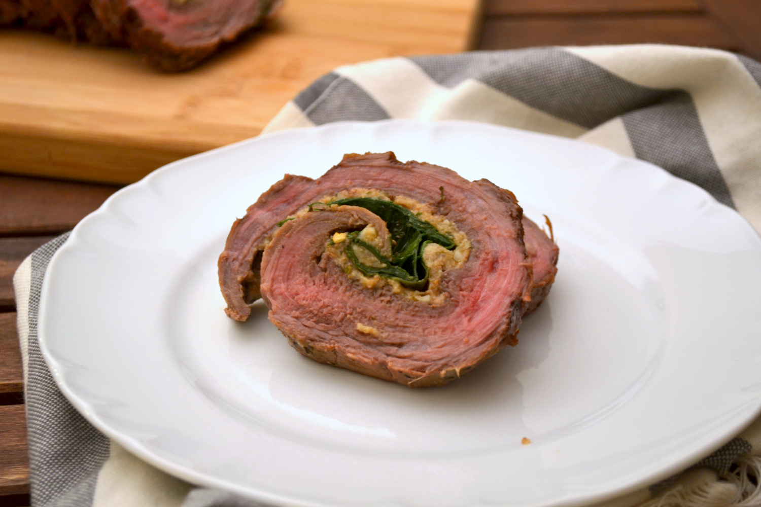 Spinach Stuffed Flank Steak | www.kandktestkitchen.com