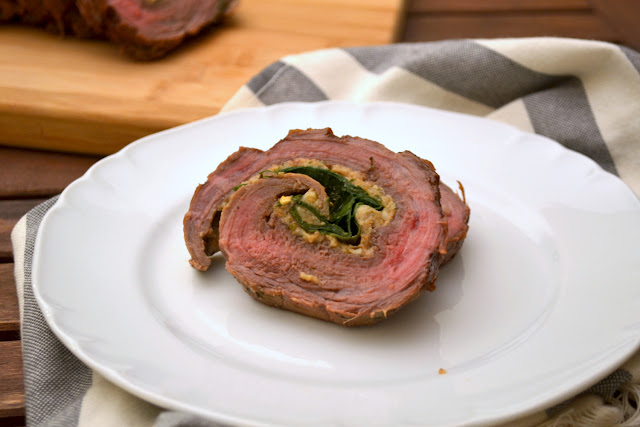Spinach Stuffed Flank Steak recipe