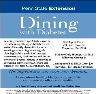 7-25-8-22 Dining With Diabetes