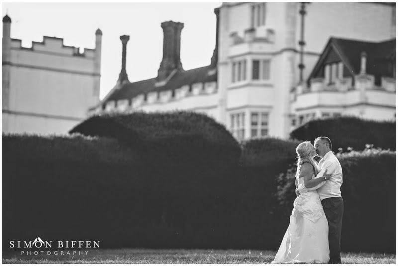 Bride and groom kiss at Danesfield House wedding