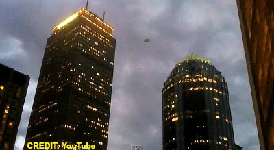 UFO Filmed Hovering Over Boston