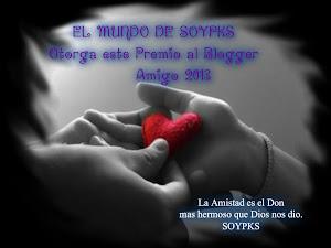 Premio blogger amigo 2013