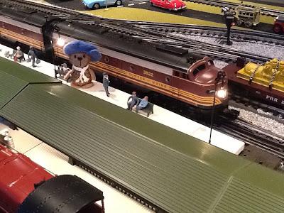 model train, model railway, mohair bear, teddybear