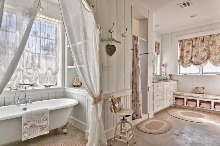 Imagenes Baños Femeninos:Si desea crear una atmósfera femenina en el baño, el estilo Shabby