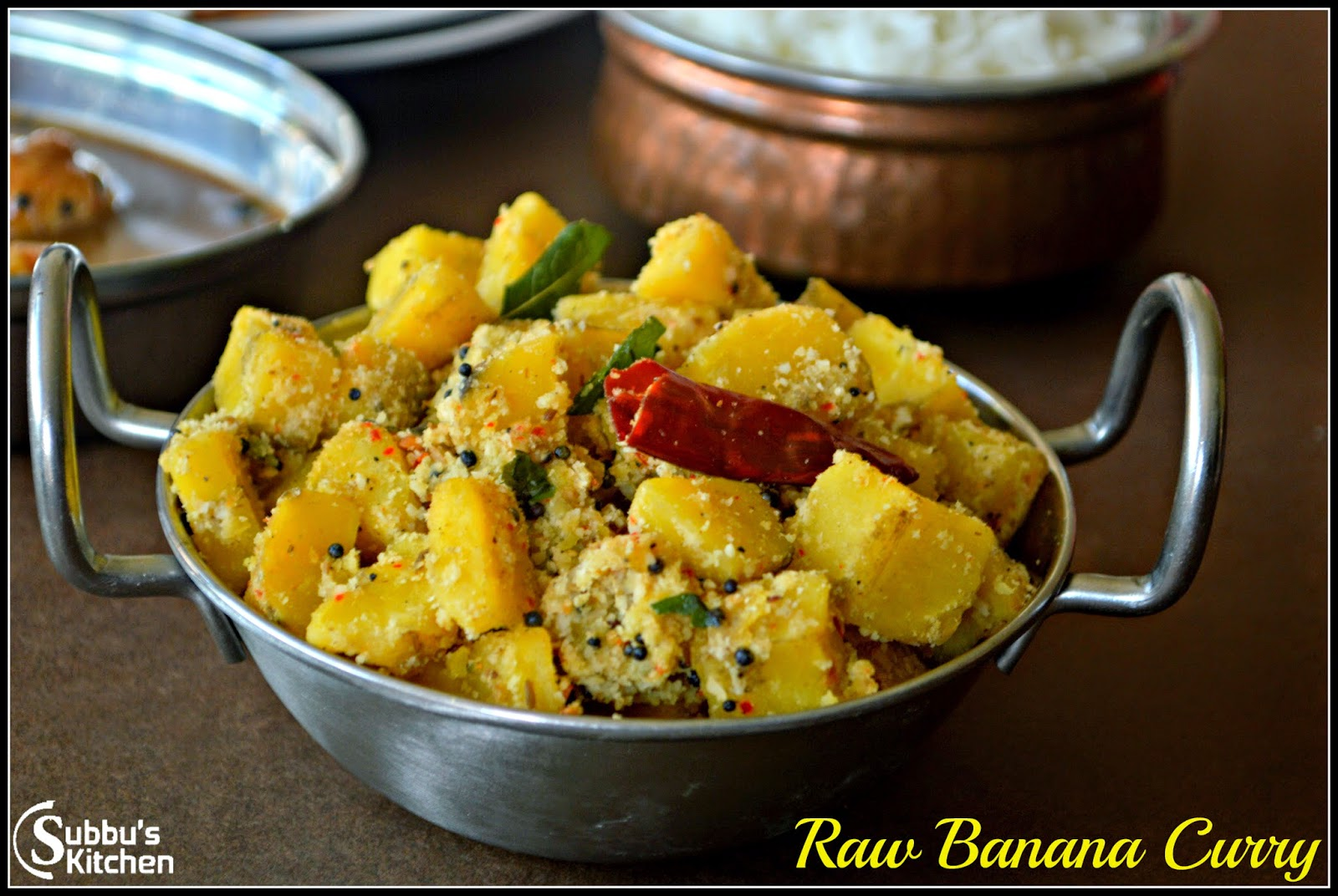 Vazhakaai Poriyal | Raw Banana (Plantain) Curry