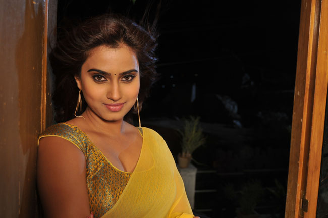 Romance fame dimple looking hot & sexy in saree