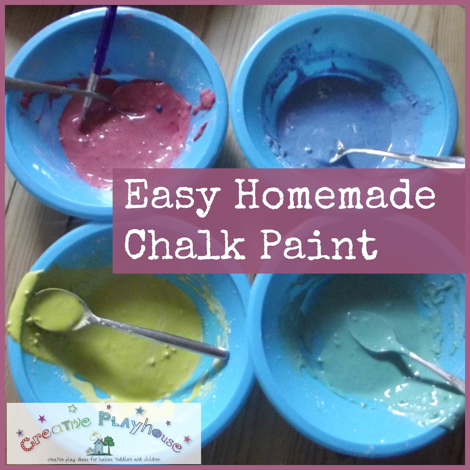 Creative playhouse easy homemade chalk paint for Walmart arts and crafts paint