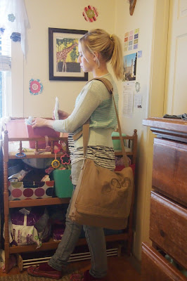 handdrawnmushroomdesignbag - Works Great as a Diaper Bag