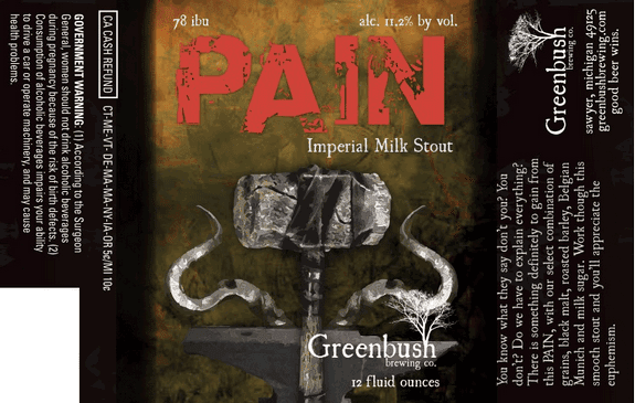 Greenbush Pain label