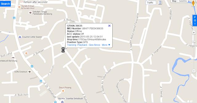Contoh Tampilan GPS Tracking System via Website