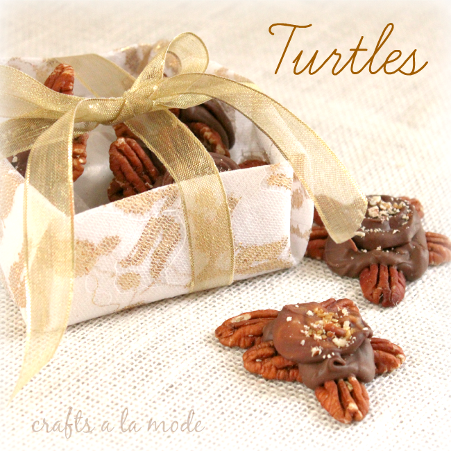 Caramel and chocolate turtle candies