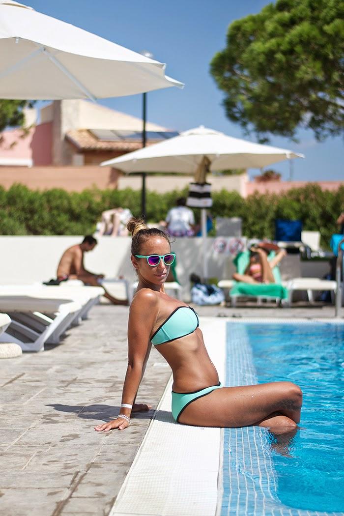 aqua blue bikini