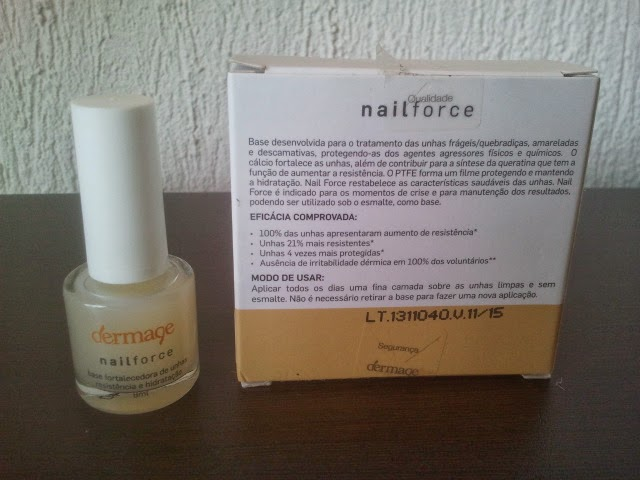 Nailforce, Dermage, esmalte fortalecedor, unha, cuidados, base