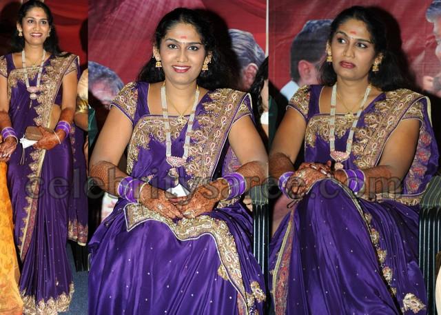 Sandeepthi Beads Work Saree