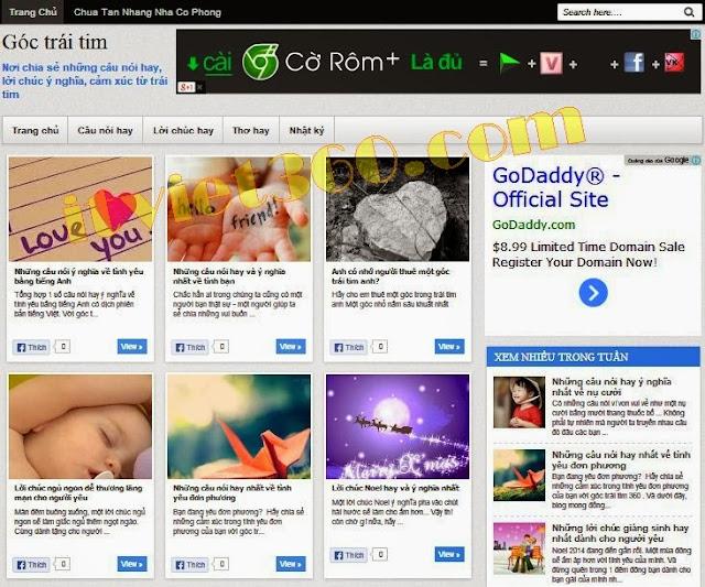 Share template blogspot tối ưu SEO - blogger goctraitim360