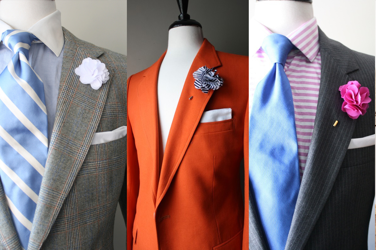 The X Stylez Male Lapel Flower Fashion