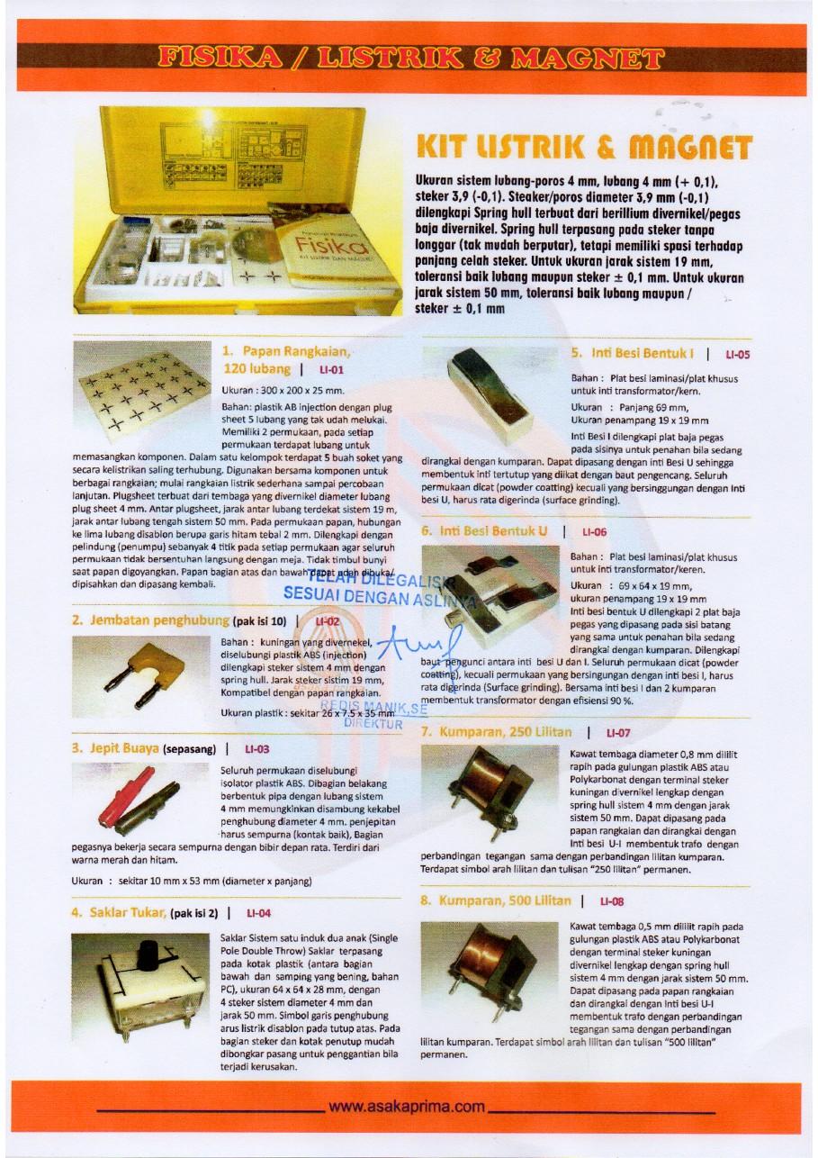 Peralatan Ipa Paket Pelengkap Smp Dak 2015 171 Cv Asaka Prima Duta Media Group 021 55701397