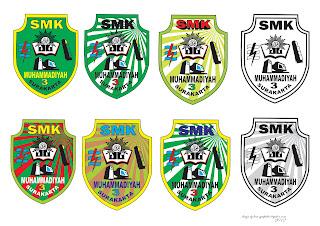 Desain Logo SMK Muhammadiyah 3 Surakarta Tahun 2012-2013