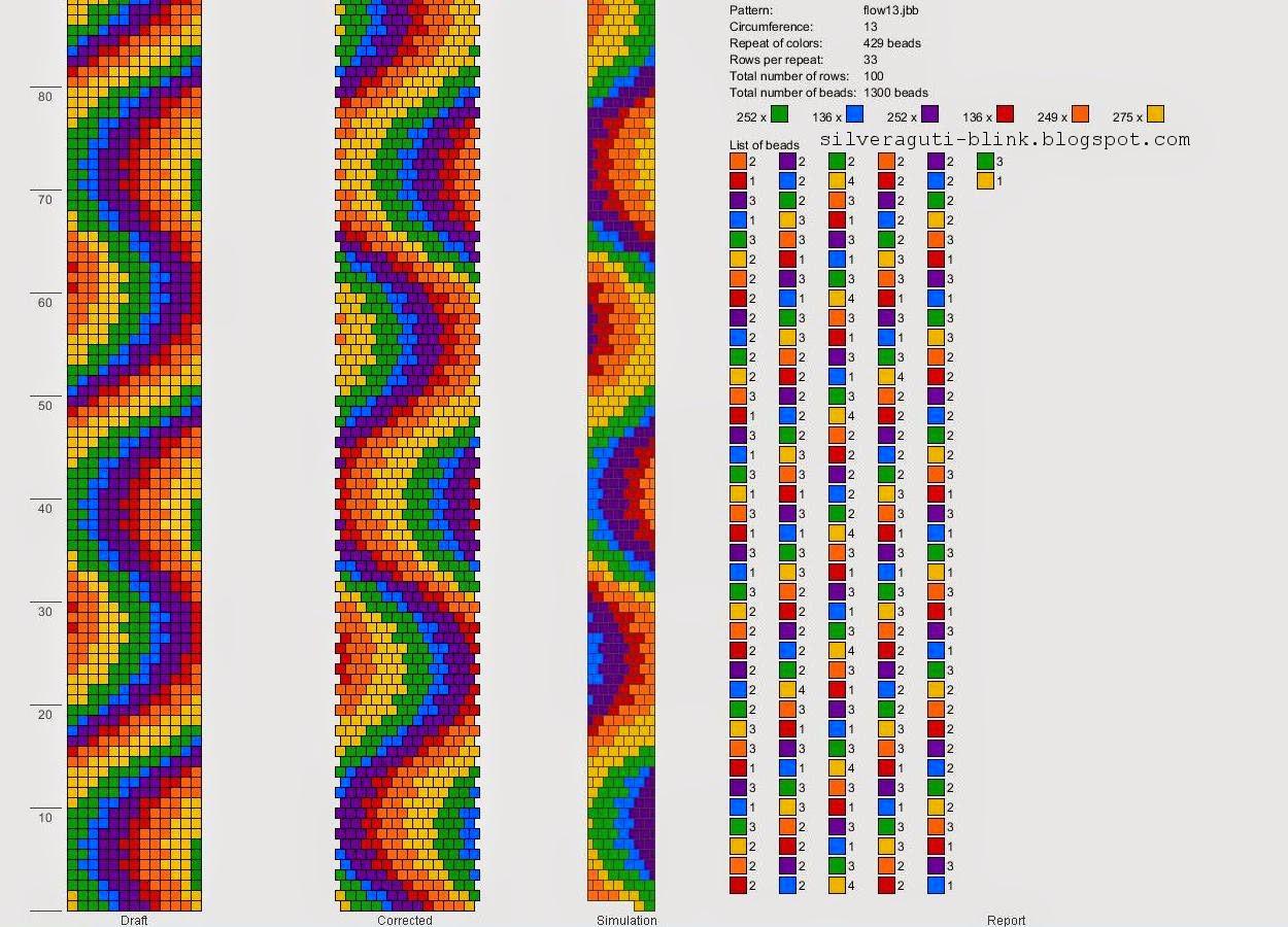 схема для тонких жгутов из бисера крючком